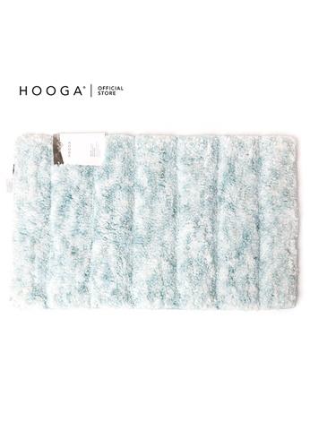 HOOGA white and blue Hooga Bath Mat Dolce (Bundle of 2) 086D2HLAA0E01EGS_1