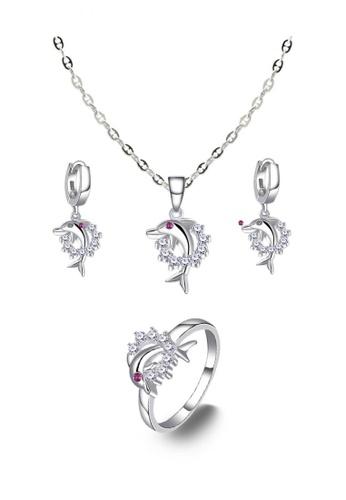 SC Tom Silver silver Dolphin Ladies Jewelry Set SC872AC0JO29PH_1