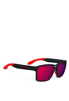 bc9e50aed827 Rudy Project black and red Spinair 57 Carbonium-Mls Sunglasses  12DBCGL6D2FA42GS 1