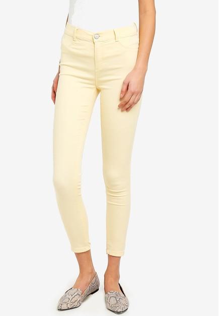 ae848a1fb8523 Shop Dorothy Perkins Lemon Frankie Ankle Grazer Jeans Online on ...