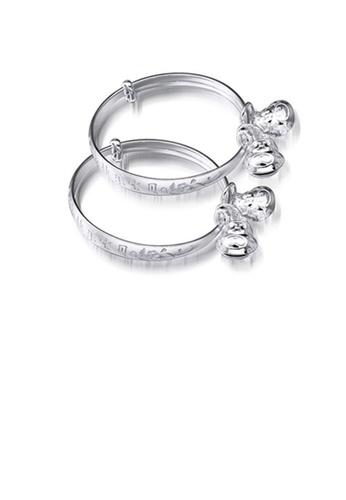 Glamorousky silver Simple Baby Silver Bangle E8270AC2D97939GS_1