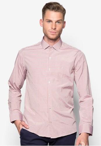 格esprit專櫃紋修身長袖襯衫, 服飾, 襯衫