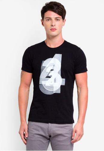 OVS 黑色 品牌刺繡T恤 DB69EAA5875D81GS_1
