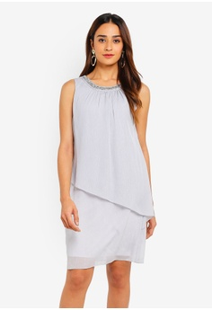 89964c540f71 Dorothy Perkins grey Grey Trapeze Dress 1E7DFAAF7FF281GS_1