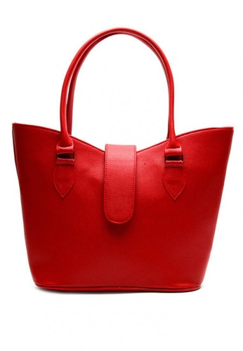 House of Bai red Lucy Shoulder V Cut Bag B HO716AC0K9A9PH_1