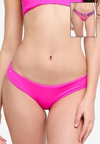 Maaji pink Hibiscus Pink Sublime Hipster Cut Reversible Bikini Bottom 83060US8863F01GS_1