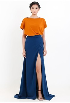[PRE-ORDER] Oversized Boxy Top With Overlap Long Skirt