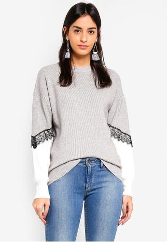Vero Moda grey Smilla O-neck Sweater 9AEE3AAE9CE326GS_1