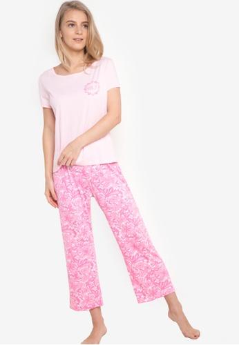 Verve Street pink Edler Sleep Set VE915AA65CKCPH_1