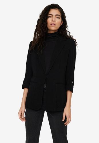 Vero Moda black Rina 7/8 Blazer DF544AA447A1D8GS_1