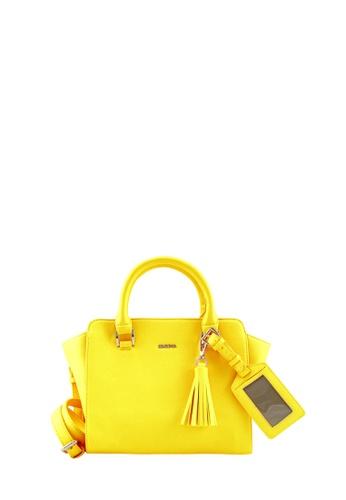 SEMBONIA yellow SEMBONIA Synthetic Leather Tote Bag SE598AC35FMEMY_1