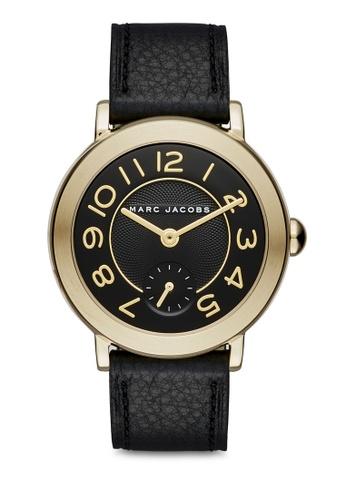 a65c7debf07 Buy Marc Jacobs Marc Jacobs Riley Black Leather Watch MJ1471 Online on  ZALORA Singapore