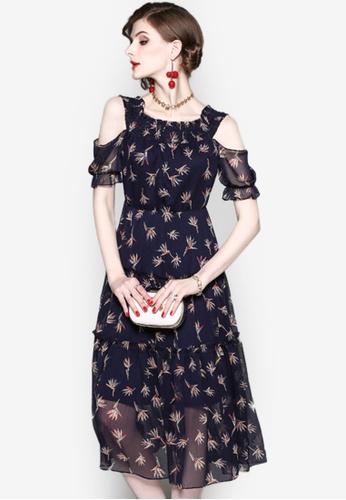 Sunnydaysweety blue 2018 New Print Off Shoulder One Piece Dress UA032701  7E3FDAA50A10DDGS 1 32df906f65c
