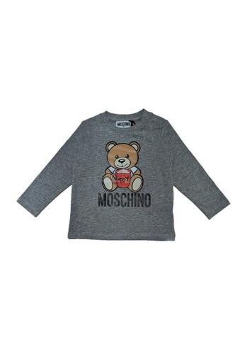 MOSCHINO BABY KID TEEN grey MOSCHINO BABY LONG SLEEVE T-SHIRT 06B2FKA978990AGS_1