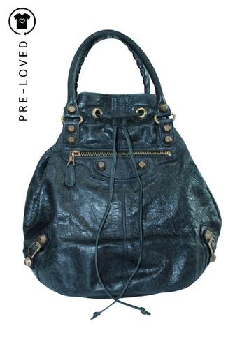 Balenciaga blue Pre-Loved balenciaga Giant 12 Pompon Bag F7FCFACC967AB3GS_1