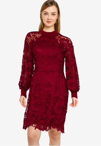 CHI CHI LONDON red Maude Dress D69B1AAC5D3D0FGS_1