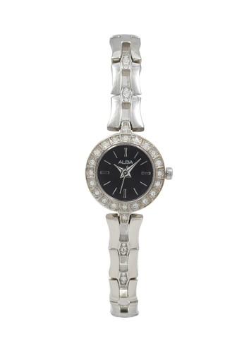 Alba silver ALBA Jam Tangan Wanita - Silver Black - Stainless Steel - AC3T65 9A68AACC769FB5GS_1