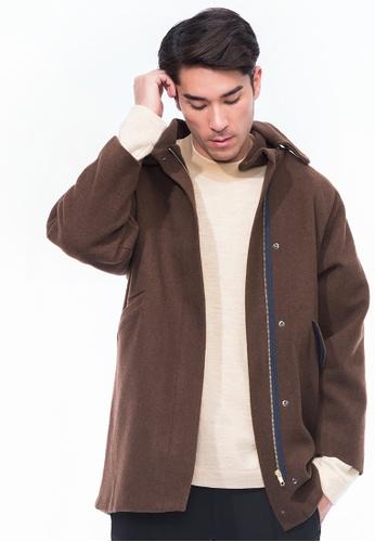Alpha Style brown Charlotte Wool Parka AL461AA0GYGYSG_1