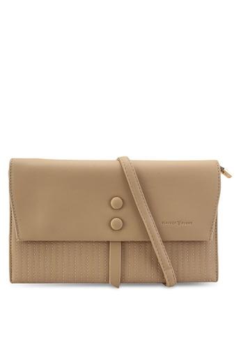 PLAYBOY BUNNY brown Clutch Sling Bag 873AFAC61D3D48GS_1