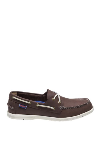Sebago brown Litesides Two Eye Boat Shoes SE328SH0J658PH_1