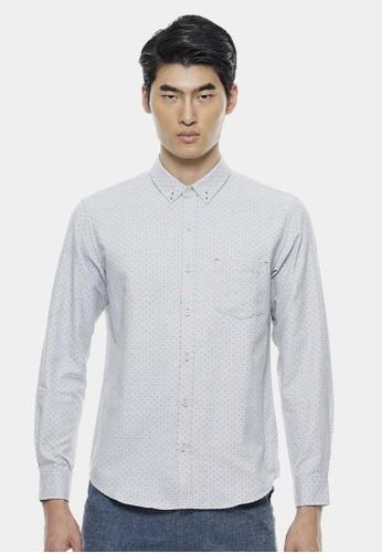 Private Stitch grey Smart Shirts In Multi Polka Dot PR777AA17UFMMY_1