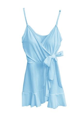 Twenty Eight Shoes blue VANSA  One-Piece Swimsuit  VCW-Sw10 52C19USA433D1AGS_1