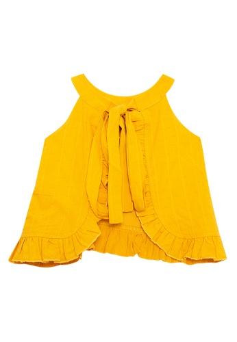 Andi + Olivia yellow Halter Neck Tunic Top 9D04AKA53837A5GS_1