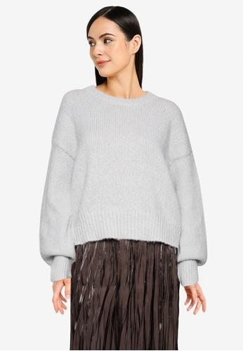 LOWRYS FARM white Mohair-Like Knit Pullover C7F78AA6A136E2GS_1