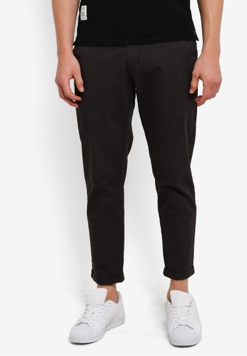 Sparrow Green 海軍藍色 Wyatt Elastic Waist Tapered Pants SP065AA0S0TKMY_1