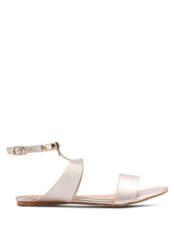 Something Borrowed gold Studded Sandals 677A8SHEC3FB8FGS_1