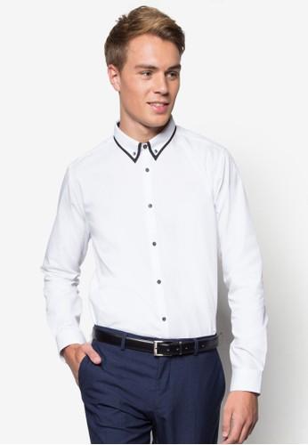 印花標準領長袖襯衫,esprit 錶 韓系時尚, 梳妝