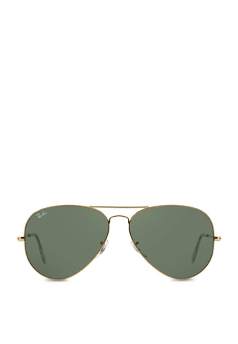 Ray-Ban 黃色 Aviator Large Metal II RB3026 Sunglasses RA370GL23SAYSG_1