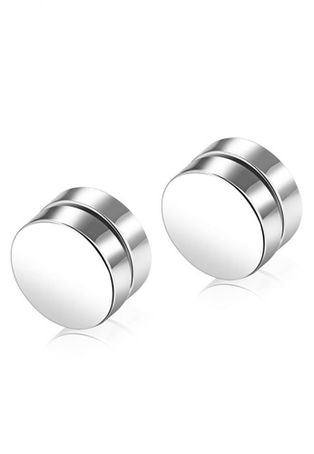 Trendyshop silver Silver Magnetic Earrings ECB20ACC708C94GS_1