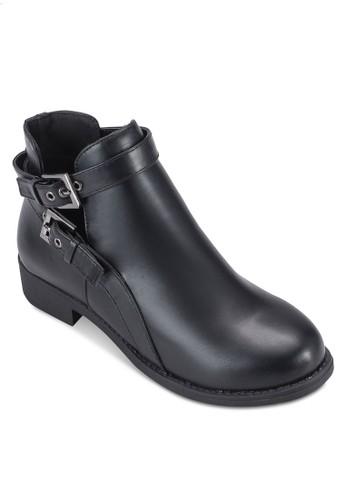 雙扣環鏤空平底短靴, 女鞋, esprit香港門市鞋