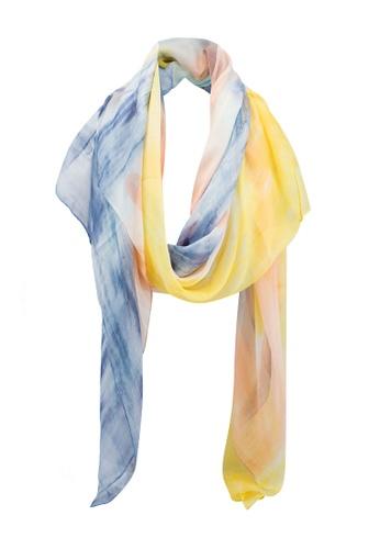 1db1a6f19 Dressing Paula yellow Tie Dye Rectangle Scarf With Tassel End  E6B7FAA63BF863GS_1