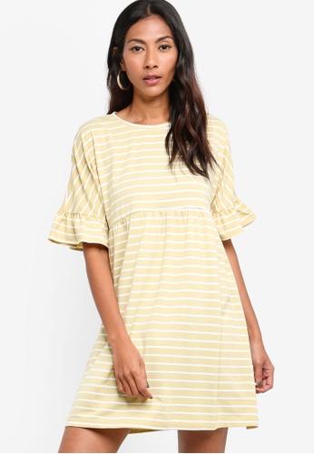 ZALORA BASICS multi and beige Basic Jersey Smock Dress 77F98AA42B3F42GS_1