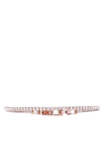 a30de407b Shop Mestige Rose Gold Olivia Bracelet With Swarovski Crystals Online on  ZALORA Philippines