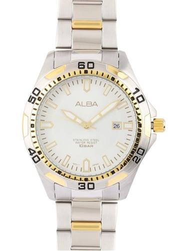 Alba silver Jam Tangan Pria Alba Original Garansi Resmi Strap Stainless Steel Silver Gold AG8G74 AG8G74X1 Silver Gold 122ABAC8B0C3E1GS_1