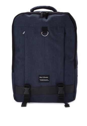 Giles N Brooks navy Min-ho Backpack GI308AC0KFXFPH_1