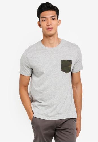 GAP grey Logo Graphic Pocket T-Shirt 15604AA2202FFAGS_1