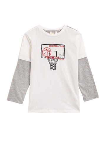 KOTON white Long Sleeve T-Shirt A1555KAE5A3271GS_1