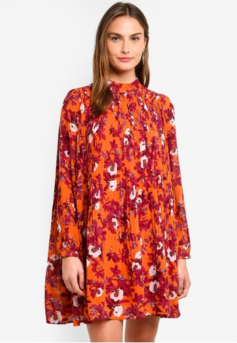 Vero Moda orange Karen Floral Dress DCE1AAA57572C2GS_1
