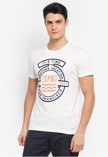 ESPRIT white Short Sleeve T-Shirt 417EDAAFD676BBGS_1
