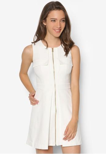 Yvetteesprit 會員 前拉鍊洋裝, 服飾, 正式洋裝