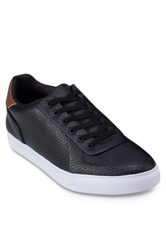 Embossed Faux Leather Sneaker