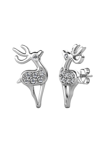 Her Jewellery white Her Jewellery Deerly Earrings (White Gold) embellished with Crystals from Swarovski B9E05AC4B24F7BGS_1
