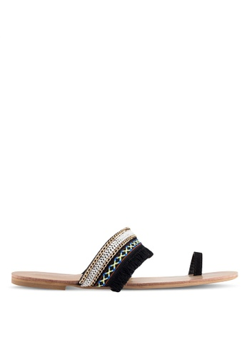 Billini black Madras Sandals BI606SH0RT41MY_1