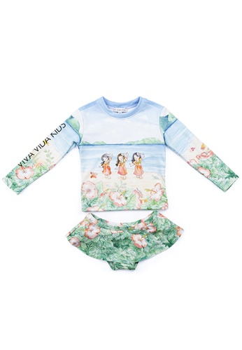 Viva Vida Kids multi Swimwear 2Pcs LS Pasifika 82F91KAFED94EEGS_1