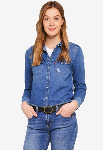 Levi's blue Ultimate Western Shirt 9DF08AA80B9787GS_1