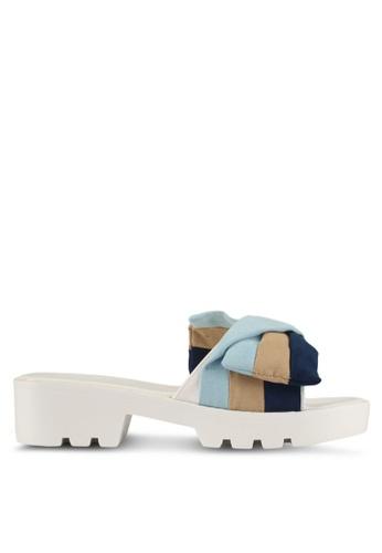 Something Borrowed blue and multi Stripe Ribbin Sandals 1B665SHA883EB9GS_1